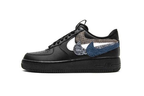 John Geiger Misplaced Checks Nike Air Force 1 Low Black AF1 DIY Custom bec1db166