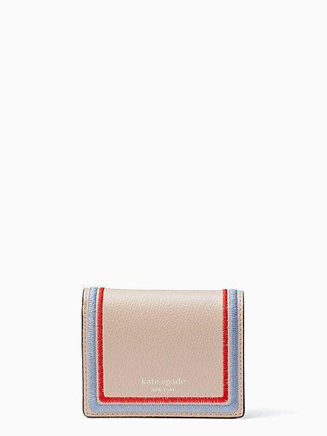 bba78dd3a45e Kate Spade Eva Embroidered Small Bifold Wallet