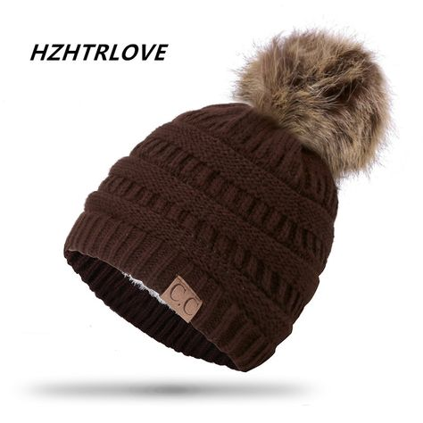 Cheap pom pom winter hat 62c2fec34
