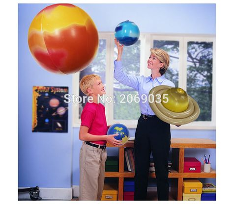 ❤ Learning Resources Inflatable Solar System Set Educational Durable