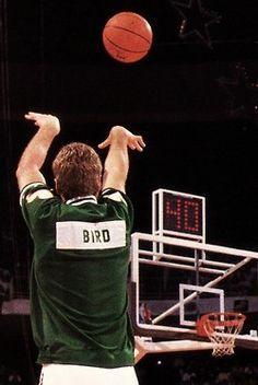 Larry Bird, one of the Boston Celtics