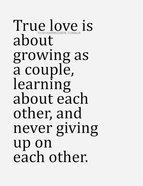 Exactly. You either grow together or grow apart. It's simple, but never that easy. Love is about so much more than feelings.