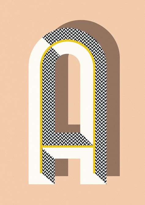 Ferm Living Shop — Bau Deco Letter Posters This would make a cool quilt pattern out of your monogram.love the lettering style