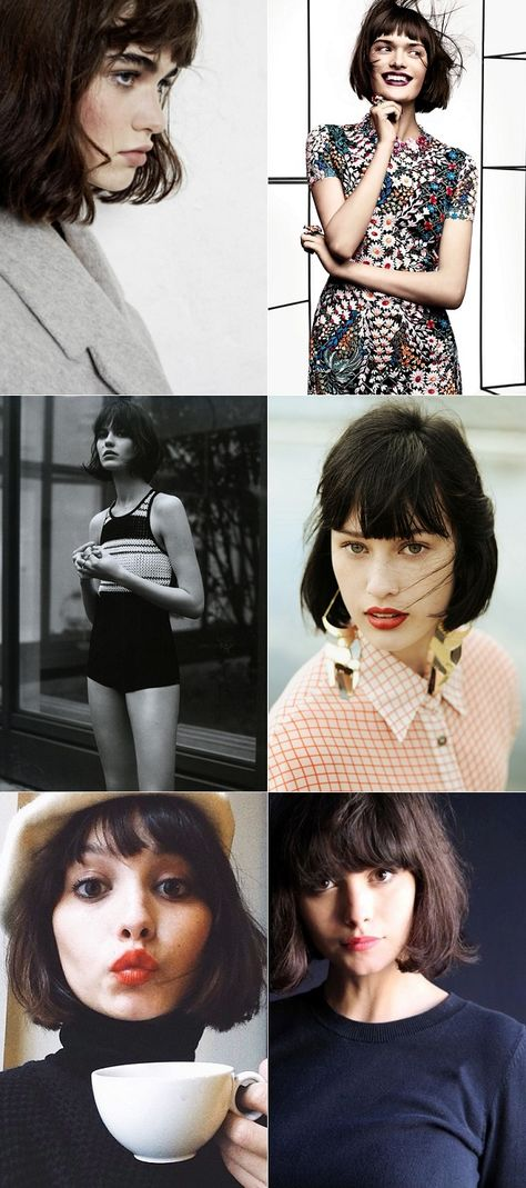 exPress-o: Blunt fringe with a short bob - one of my all time favourite hairstyles. If hair was like wardrobe I'd call this a staple.