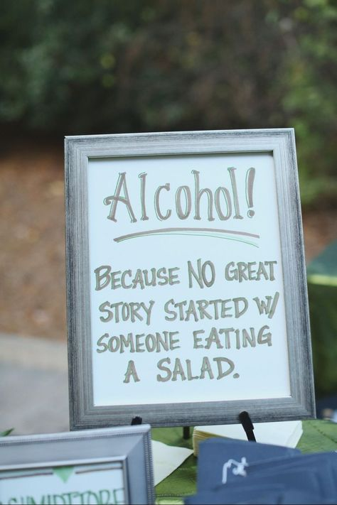 Funny Wedding Photos alcohol wedding sign - Here are a few of our favorite funny wedding signs that are sure to get your guests chuckling. Funny Wedding Signs, Wedding Ceremony Signs, Funny Wedding Invitations, Funny Wedding Photos, Wedding Signage, Wedding Humor, Wedding Pics, Wedding Ideas, Wedding Mandap