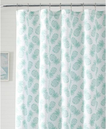 Tommy Bahama Tossed Pineapple Shower Curtain Bedding Pineapple Shower Curtain Cool Shower Curtains Interior Decorating