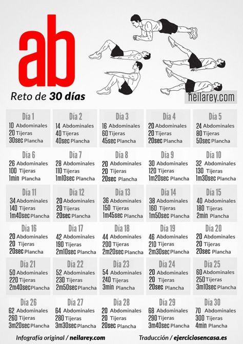 #Abdominales perfectos en 30 días con este nuevo reto de #ejercicio en casa.