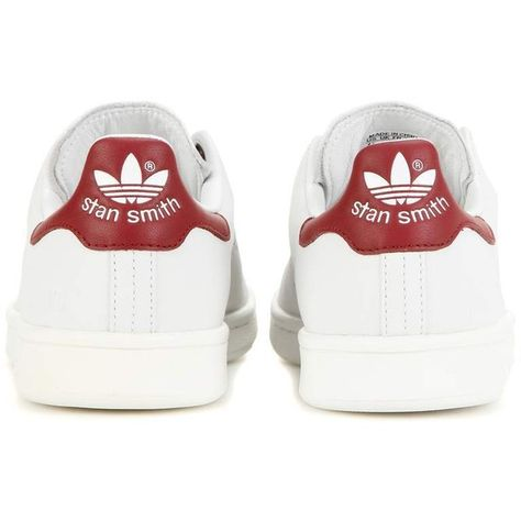 hot sales 649ee 2373b Adidas by Raf Simons Stan Smith Leather Sneakers ( 310) ❤ liked on Polyvore  featuring