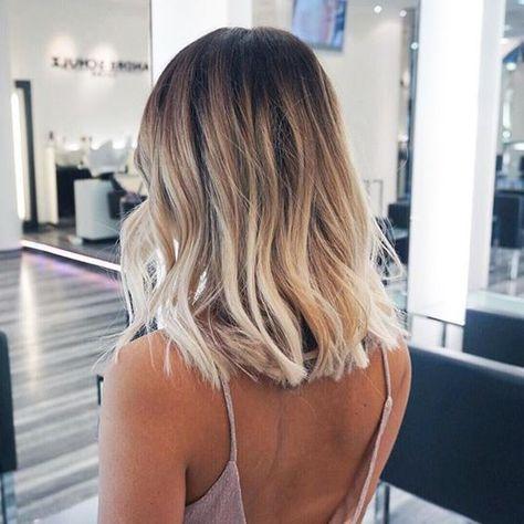 Ombre blonde cheveux 2017