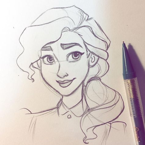 Theodore's younger sister, Emily. Just a fun teeny sketch!