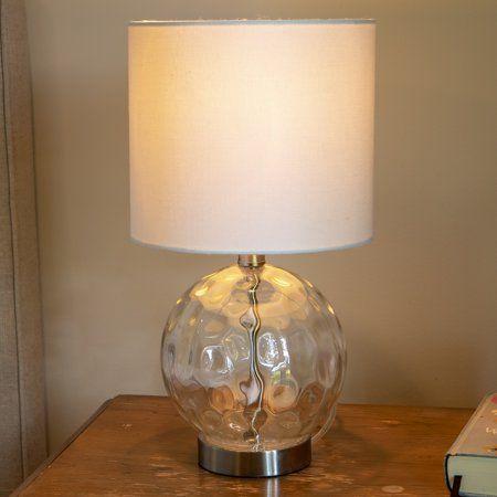 Holland Coastal Glass Orb Lamp Walmart Com Lamp Table Lamp Linen Lamp Shades