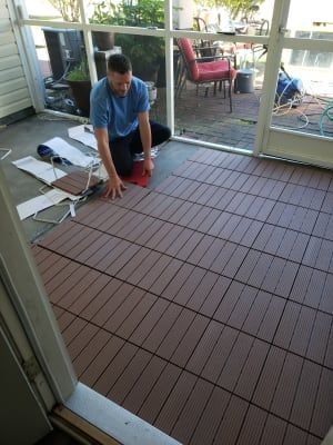 Wilson Fisher Brown Faux Wood Interlocking Deck Patio Tiles