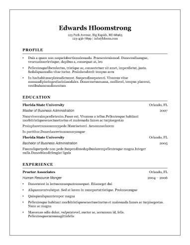 8 Free Openoffice Resume Templates Ott Format Hloom