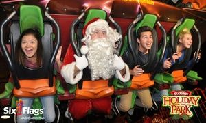53 99 For Holiday In The Park Admission For One At Six Flags Magic Mountain 89 99 Value Kids Ride On Holiday Festival Holiday