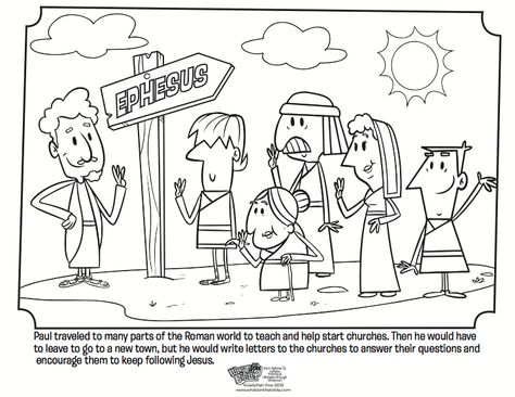 Paul And The Church Coloring Page Whats In The Bible Sunday School Coloring Pages Bible Coloring Pages Coloring Pages