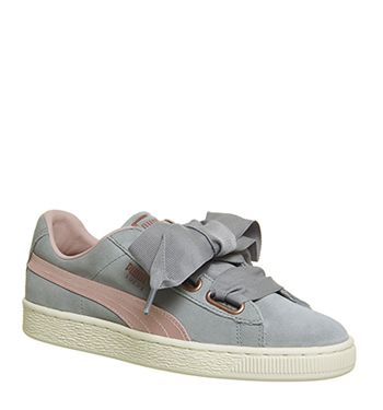 Puma Suede Heart Trainers Grey Quarry
