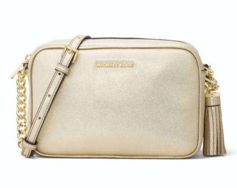 9575df93a732 Michael Kors Ginny Medium Camera Bag Gold NWT  MichaelKors   MessengerCrossBody