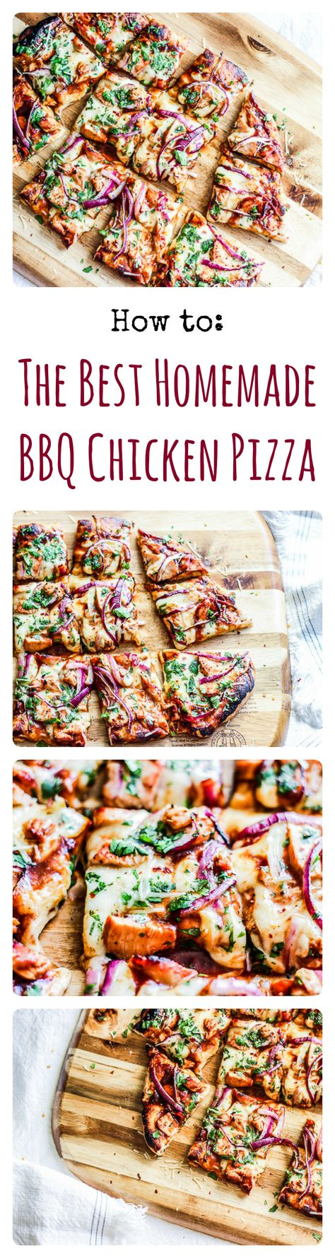 Step-by-Step Video shows how to make the TASTIEST BBQ Chicken Pizza ever! Ever!