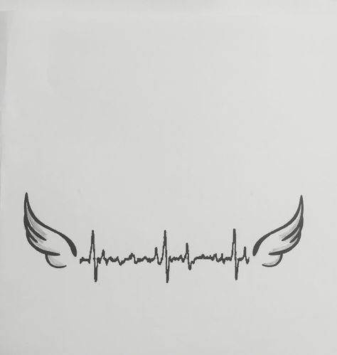 Heartbeat tattoo - need to add Ethan's name and use his last heartbeat - #add #Ethan39s #Heartbeat #tattoo