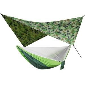 1 Set Of Netting Hammock Canopy Tent For Outdoor Camping Portable Mosquito Free Rain Fly Tarp Parachute Swing Bed Waterproof In 2020 Canopy Tent Hammock Outdoor Hammock