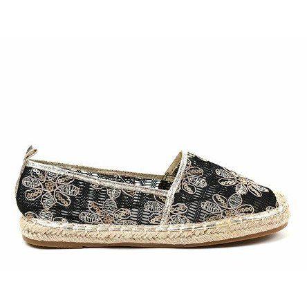 Czarne Azurowe Espadryle W Kwiatki 68 118 Espadrilles Women Shoes Women S Espadrilles