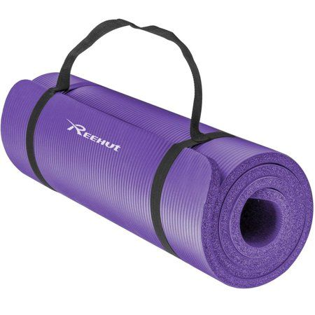 Reehut 1 2 Inch Extra Thick High Density Nbr Exercise Yoga Mat For Pilates Fitness Workout W Carrying Strap Purple Walmart Com Yoga Mat Pilates Pilates Workout