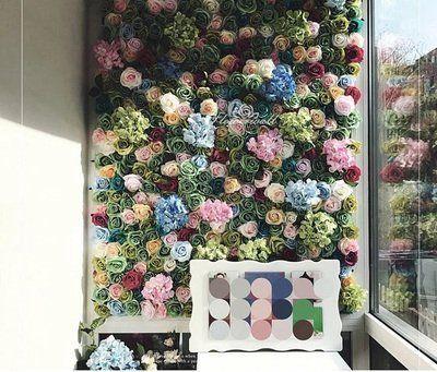 花牆 假花 植物牆 人造花 仿真花 網美道具 直播拍照背景 室內設計園藝