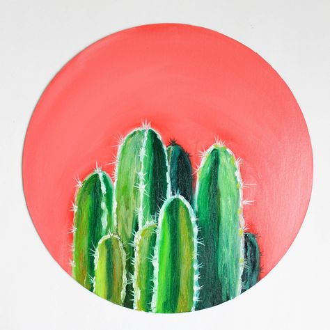 New job in Very bright and positive painting! art cactus WatercolorByDarya shared a new photo on Etsy Simple Canvas Paintings, Small Canvas Art, Bright Paintings, Diy Canvas Art, Cool Paintings, Small Art, Indian Paintings, Cactus Painting, Diy Painting