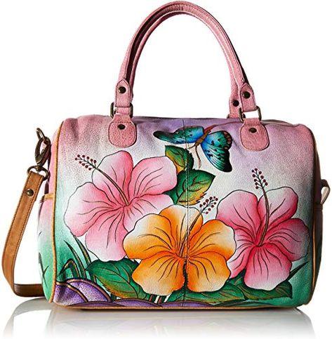 Hobo Slouchy Shoulder Bag Hand Painted Original Artwork 586-SPP Anuschka Women/'s Genuine Leather Fringed Hobo Bag