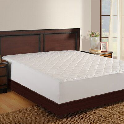 Haven Antimicrobial Polyester Mattress Pad Bed Size Queen In 2020