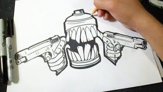 Graffitis Para Dibujar De Latas A Lapiz Graffitis Graffitis Chidos Graffiti