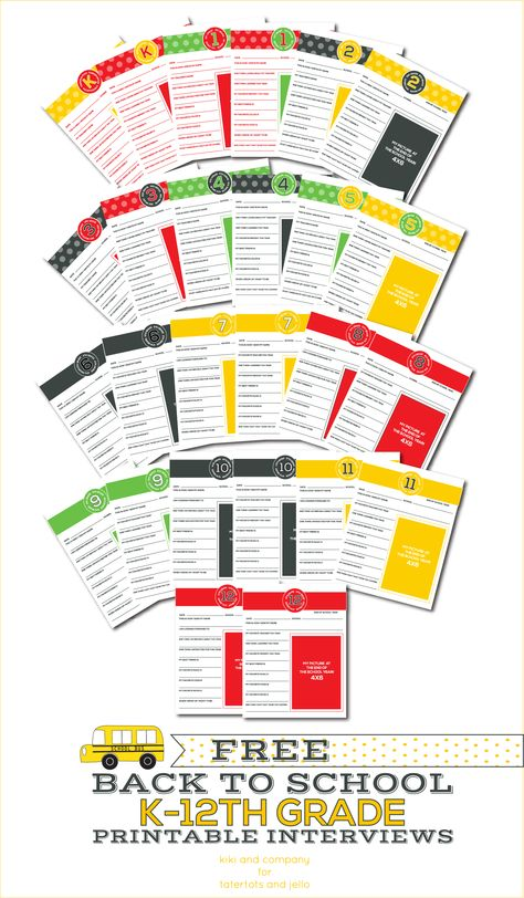 Free Back to School Printable Interviews...all 26 for free!