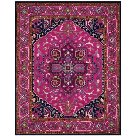 Bellagio Pink and Navy Area Rug - homedepot.com