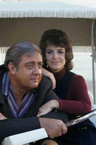 Raymond Burr and Elizabeth Baur as she replaces Barbara Anderson when she left Ironside for Mission Impossible.
