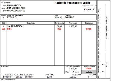 Modelo Recibo De Empregada Domestica Para Imprimir Recibo De