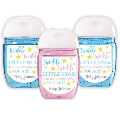 Printable Mini Hand Sanitizer Labels Bridal Shower In Navy And