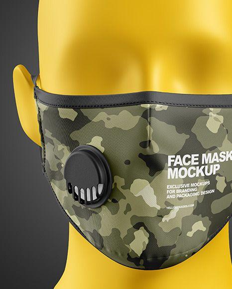 Download Face Mask Mockup Vk - Free Mockups   PSD Template   Design ...