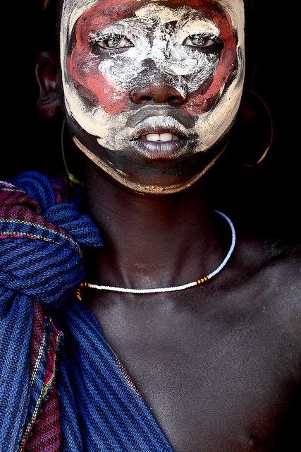 surma tradition painting face