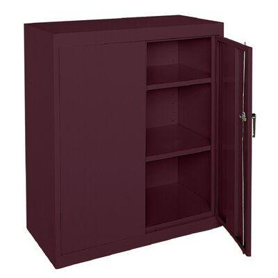 Sandusky Cabinets Classic Series 2 Door Storage Cabinet Colour Burgundy Door Storage Storage Cabinets Office Storage