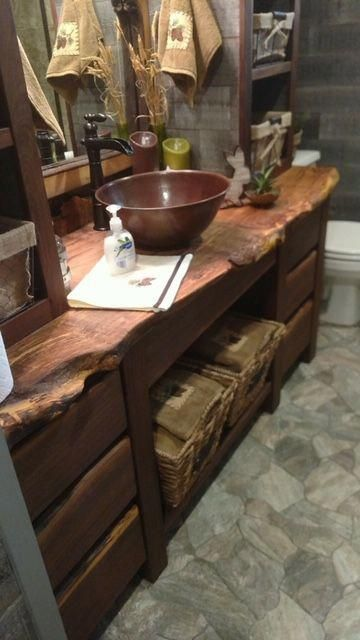 Gorgeous Is Not Enough To Describe This Rustic Bathroom Vanity