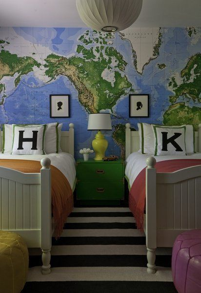 20 best tween bedroom images on pinterest tween target and gibson installed the dry erase jumbo world map mural wallpaper from pottery barn kids as an gumiabroncs Image collections