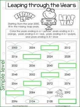 Leap Year 2020 Activities And Worksheets For Leap Day Leap Day