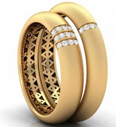 15 Matching Pair Couple Gold Rings Designs In India Gold Ring Designs Engagement Rings Couple Couple Ring Design