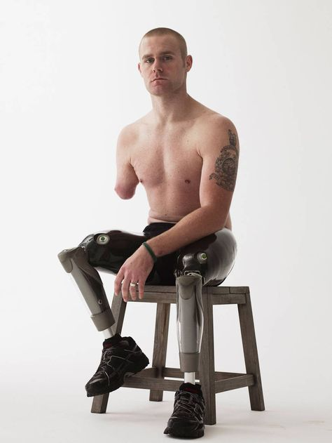 Wounded: The Legacy of War Marine Mark Ormrod, injured in Afghanistan, aged 24 Bryan Adams Photography