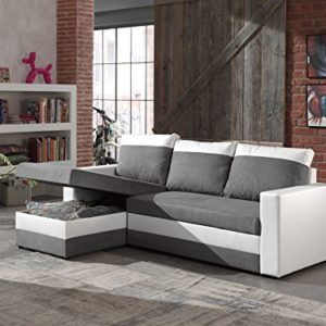 Bestmobilier Portland Canape D Angle Reversible Convertible