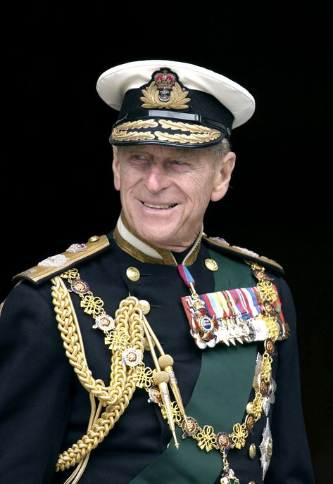 LONDON, UNITED KINGDOM - JUNE 04: Prince Philip In Naval Uniform With Medals At St. Paul's Cathedral On The Day Of The Service To Mark The Golden Jubilee - The 50th Anniversary Of The Monarch's Reign. (Photo by Tim Graham Photo Library via Getty Images)
