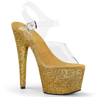 8af57840846 Adore 708HMG Gold Multi Glitter ◈ Seductive Shoes UK ◈ RalphCorbett.com    Pleaser   Adore Shoes ◈ The most beautiful