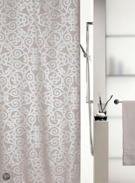 Spirella Orsini Douchegordijn Textiel 180x200 Cm Pearl Taupe