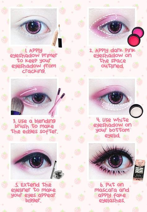 Best Korean Makeup Tutorials - Beuberry Teddy Bear Pink Circle Lenses I Kawaii M. Best Korean Makeup Tutorials - Beuberry Teddy Bear Pink Circle Lenses I Kawaii M. Pastel Goth Makeup, Lolita Makeup, Gyaru Makeup, Harajuku Makeup, Doll Eye Makeup, Anime Eye Makeup, Geisha Makeup, Pastel Goth Nails, Anime Cosplay Makeup