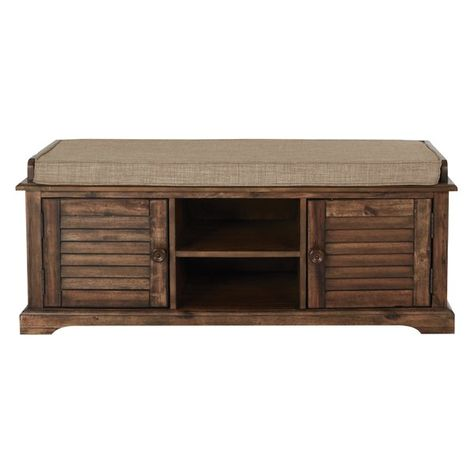 Awesome Camille Canton Wood Entryway Storage Bench Carpet Beatyapartments Chair Design Images Beatyapartmentscom